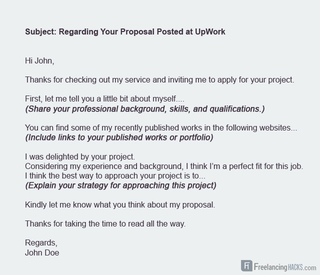 Upwork Proposal Template  CityEsporaCo