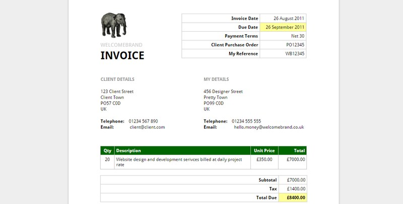 5 easy, free ways to generate invoices for your clients, Invoice templates