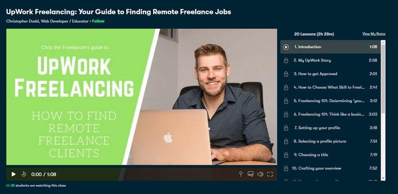 upwork freelancing course
