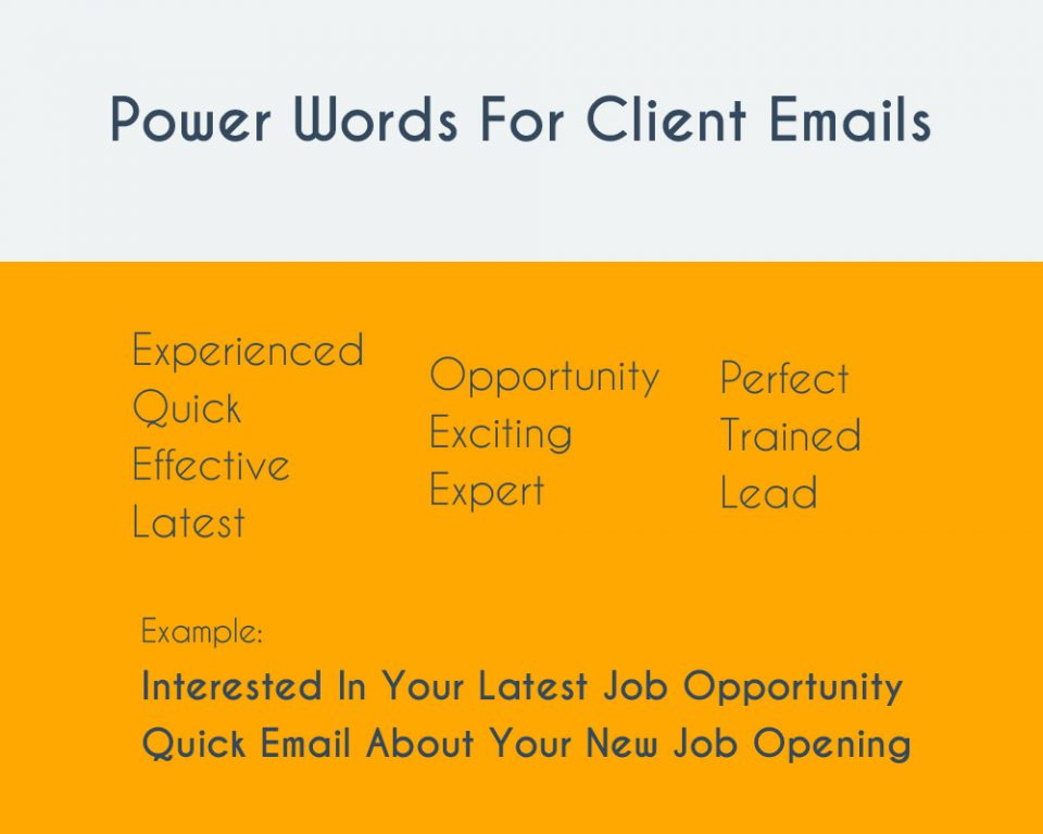 power words for email subject line