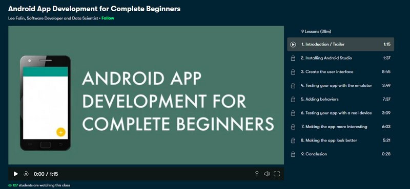 app development course